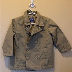 Old Navy Boys Quilted Tan Pea Coat Size 3T